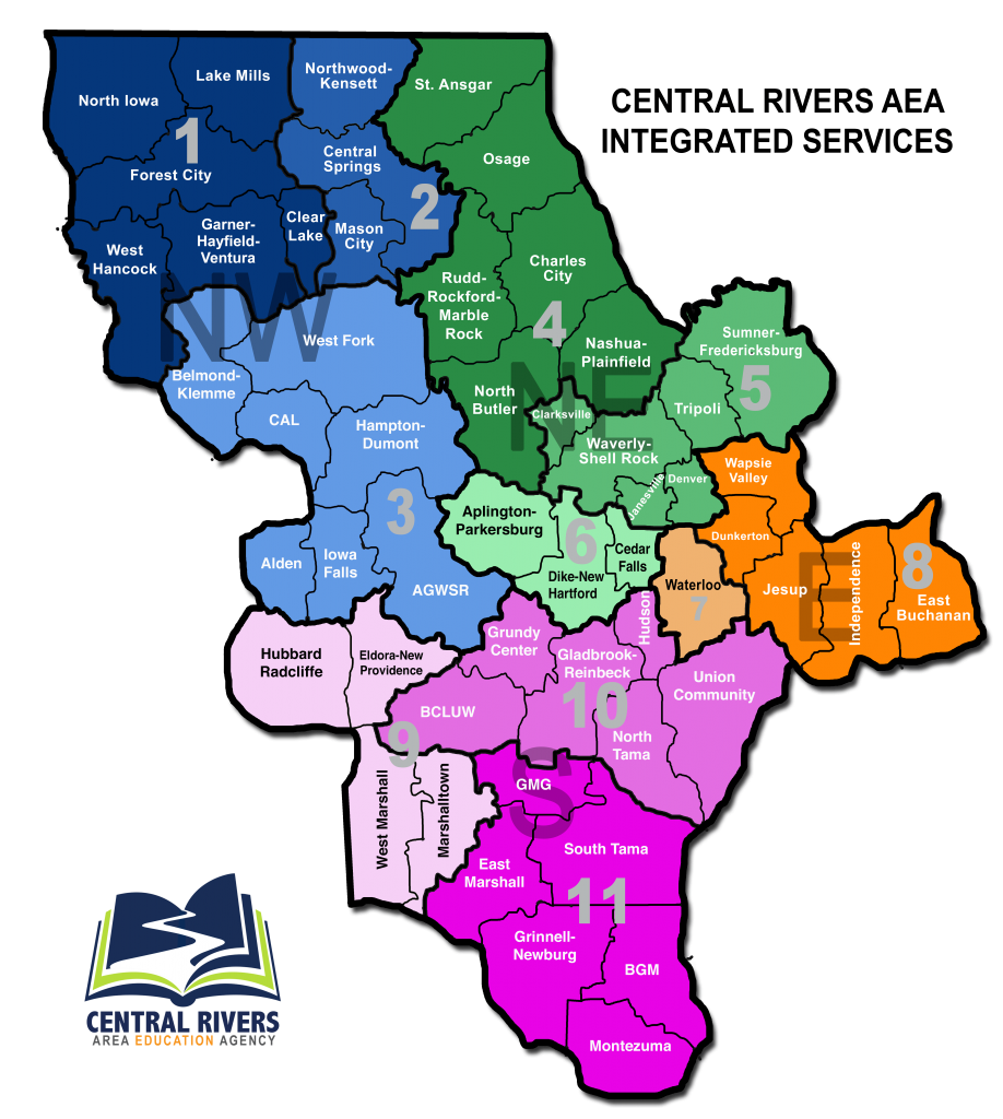 Map of Sectors Central Rivers AEA Covers