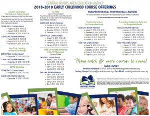 Early Childhood Course Offerings
