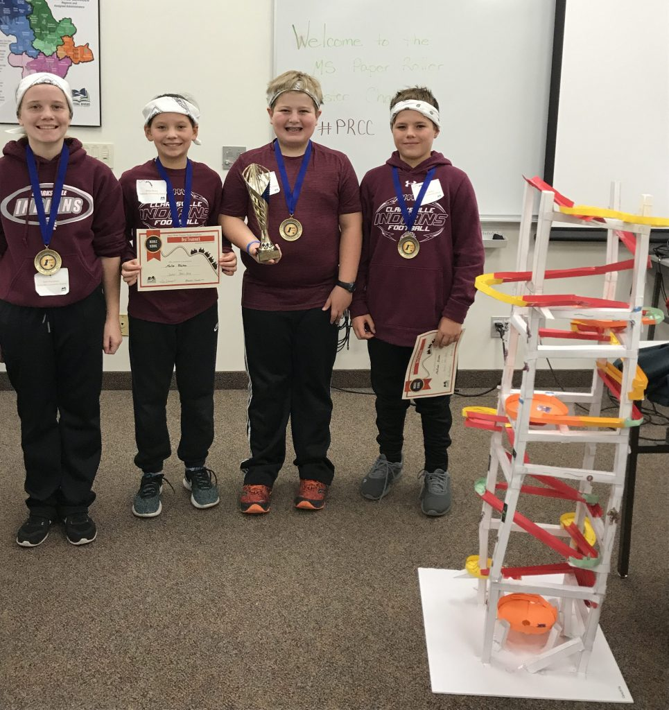 Clarksville Middle School Students earned 1st place