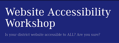 Register now for The Website Accessibility Workshop