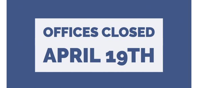 Central Rivers AEA Offices Closed Friday April 19th