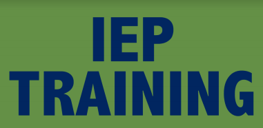 IEP Trainings for Teachers